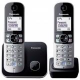 Telefon DECT twin, negru, Panasonic
