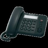 Telefon analogic cu fir alb negru Panasonic cu memorie