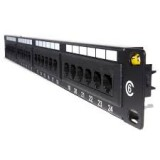 "Patch panel 19"" 24 port Ecranat Cat 5e"
